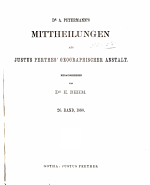 Dr  A  Petermann s Mitteilungen aus Justus Perthes  geographischer Anstalt PDF
