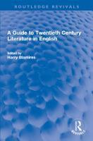 A Guide to Twentieth Century Literature in English PDF