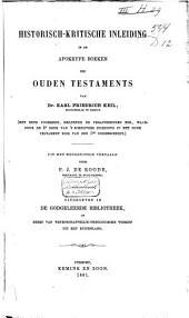 Historisch-kritische inleiding in de Apokryfe boeken des Ouden Testaments