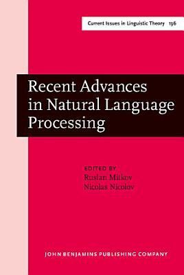 Recent Advances in Natural Language Processing PDF