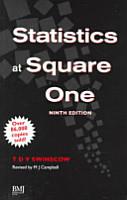 Statistics at Square One 9th Edn PDF