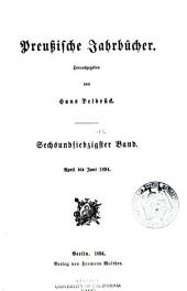 Preussische Jahrbücher: Band 76