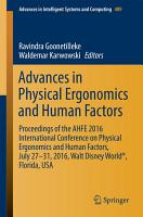 Advances in Physical Ergonomics and Human Factors PDF