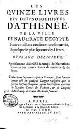 Les quinze livres des deipnosophistes d'Athenee (etc.)