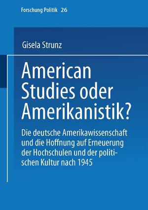 American Studies oder Amerikanistik  PDF
