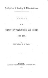 Memoir of the Survey of Travancore and Cochin, 1816-1820