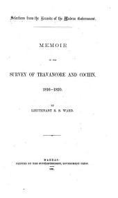 Memoir of the Survey of Travancore and Cochin, 1816-1820