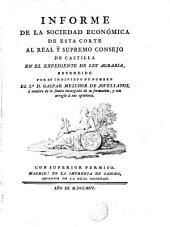 Informe de la Sociedad Económica ...en el expediente de Ley Agraria