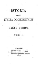Istoria della Italia Occidentale, tomo II
