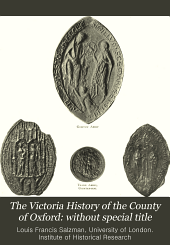 The Victoria History of the County of Oxford