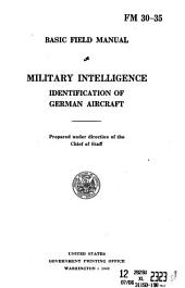 Military intelligence: identification of German aircraft