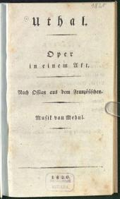 Uthal: Oper in einem Akt