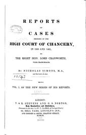 Reports of Cases Decided in the High Court of Chancery in 1850[-1852] by the Right Hon. Lord Cranworth [and Sir Richard Torin Kindersley, Vice-Chancellors]: Volume 1