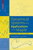 Dynamical Systems with Applications using MapleTM PDF