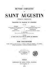Œuvres complètes de Saint Augustin: Volume28