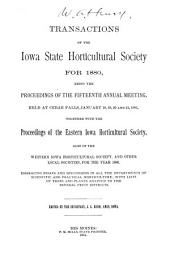 Transactions of the Iowa State Horticultural Society for ...: Volume 15