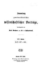 William Harvey der Reformator der Physiologie: Bände 337-360