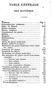Manuel des plantes médicinales: Volume3