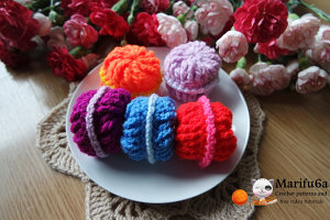 crochet french macarons for beginners pattern pdf by marifu6a PDF
