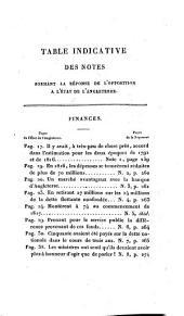 État de l'Angleterre au Commencement de 1822: considéré sous le rapport des finances, de l'extérieur du Dep. de l'Intérieur, des Colonies etc. Appendice à l'état de l'Angleterre : suivi d'une réponse de l'opposition ; avec une table indicative, Volume2