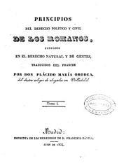 Principios del derecho político y civil de los romanos: fundados en el derecho natural y de gentes