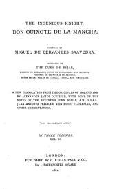 The Ingenious Knight, Don Quixote de la Mancha: Volume 2