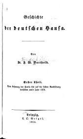 Geschichte der deutschen Hansa: Bände 1-2
