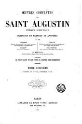 Œuvres complètes de Saint Augustin: Volume16