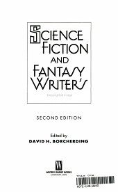 Science Fiction and Fantasy Writer s Sourcebook PDF