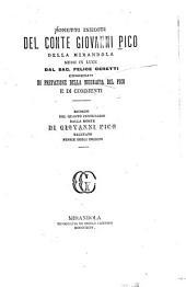 Sonetti inediti del conte Giovanni Pico della Mirandola: messi in luce dal sac