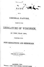 Wisconsin Session Laws: Volume 1864