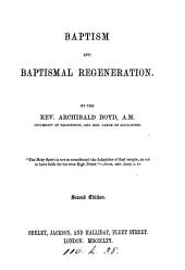 Baptism and baptismal regeneration