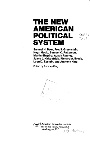 The New American Political System