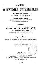 Cahiers d'histoire universelle à l'usage des collèges et des écoles normales primaires