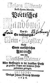 Poetisches Handbuch