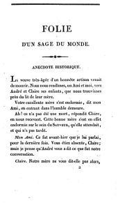 Rousseau et la religion de nos pères ; [Folie d'un sage du monde: anecdote historique]