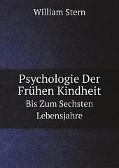 Psychologie Der Fr?hen Kindheit