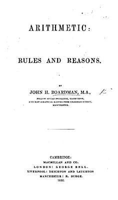Arithmetic  Rules and Reasons PDF