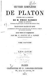 Oeuvres complètes de Platon: Volume9