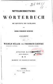 Mittelhochdeutsches Wörterbuch;: mit benutzung des Nachlasses von Benecke, Bände 1-2