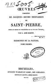 Harmonies de la nature, T.1