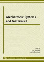 Mechatronic Systems and Materials II PDF