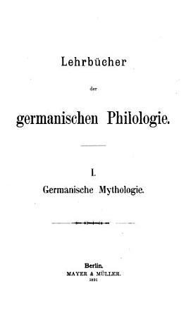 Germanische Mythologie PDF