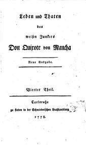 Leben und Thaten des weisen Junkers Don Quixote von Mancha: In sechs Bänden, Band 4