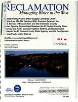 Central Valley Project Water Supply Contracts Under Public Law 101 514  Section 206   Contract Between the U S  Bureau of Reclamation and the El Dorado County Water Agency  Subcontract Between the El Dorado County Water Agency and the El Dorado Irrigation District  and Subcontract Between the El Dorado County Water Agency and the Georgetown Divide Public Utility District PDF