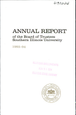Annual Report of the Board of Trustees, Southern Illinois University