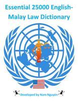 Essential 25000 English Malay Law Dictionary PDF