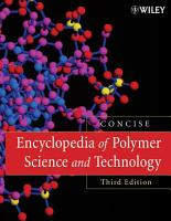 Encyclopedia of Polymer Science and Technology  Concise PDF