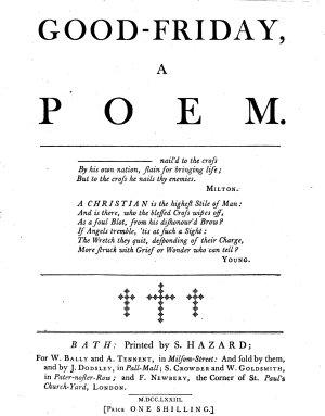 Good Friday  a Poem
