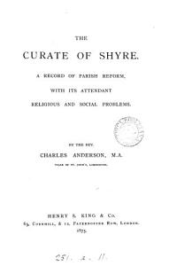 The curate of Shyre Book